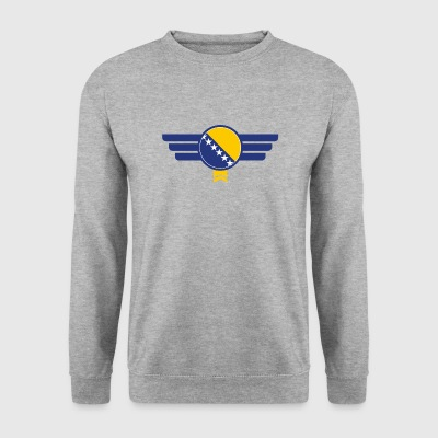 Bosnien flag emblem - Herre sweater