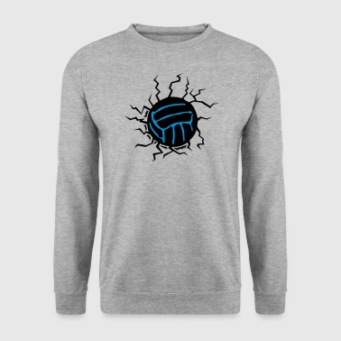 fissure volley impact sol ballon volleyball - Sweat-shirt Homme