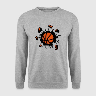 basketball ballon explosion destruction - Sweat-shirt Homme