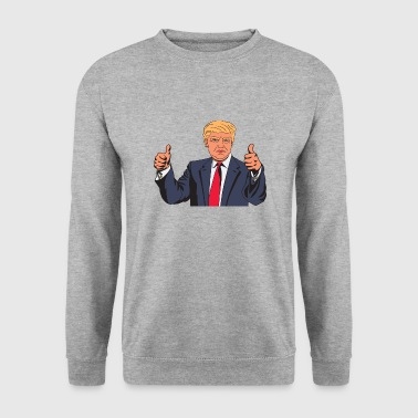 Donald Trump thumbs up - Men's Sweatshirt