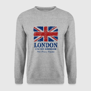 Union Jack - London - Vintage Look  - Sweat-shirt Homme