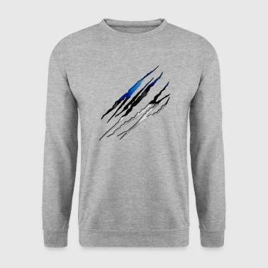 Estonie 001 tailladé formes rondes - Sweat-shirt Homme