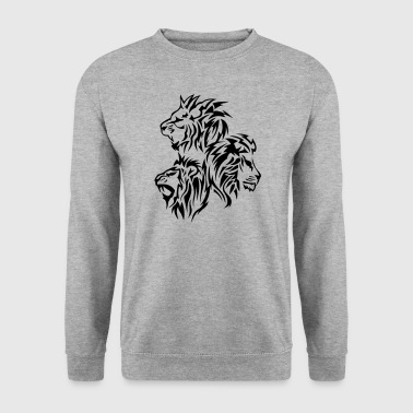 lion tribal tatouage dessin 14030 - Sweat-shirt Homme