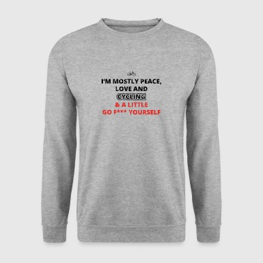 AMOUR DE PAIX FUCK femmes du cycle YOURSELF cyclisme radel - Sweat-shirt Homme