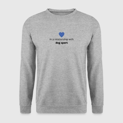 gift single taken relationship with dog sport - Men's Sweatshirt