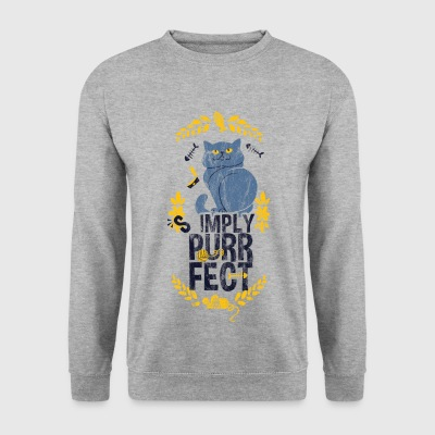 CAT PERFECT - chats de pêche de chat Souris Proverbes shirt - Sweat-shirt Homme