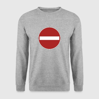 prohibition sign - Men's Sweatshirt