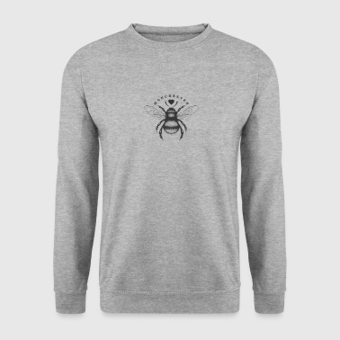 Traditional worker bee and love heart Manchester - Men's Sweatshirt