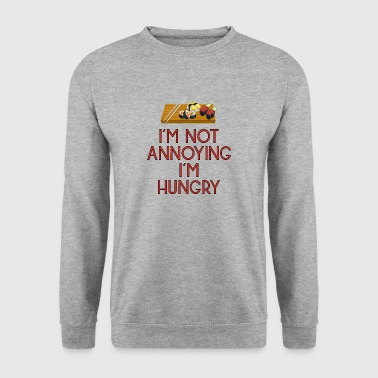 hongerig lunch middagmaal fast food pizza90 - Mannen sweater