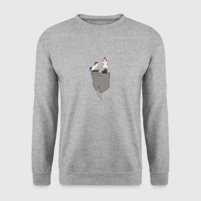 Cat & Pocket Unicorn - Sweat-shirt Homme