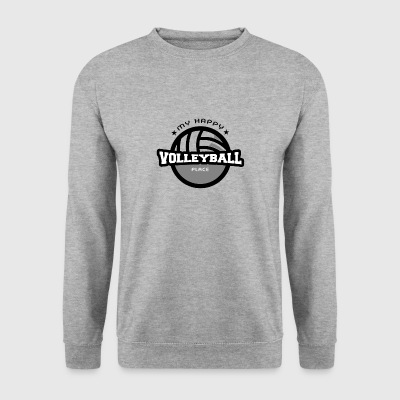 My Happy Place Volleyball Tee Shirt Gift - Men's Sweatshirt