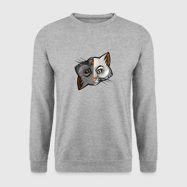 Yin Yang Cats Upside Down Chinese Tai Chi Symbol - Men's Sweatshirt