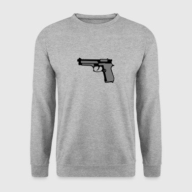 revolver automatique pistolet flingue - Sweat-shirt Homme