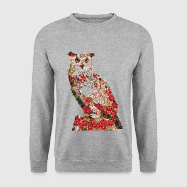 Portrait de grand cru hibou. Chouette, Chouette - Sweat-shirt Homme