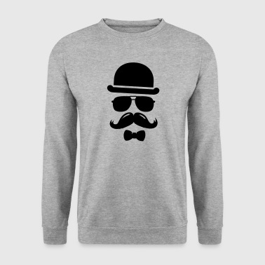 Cool  swag hipster moustache boss man father - Sweat-shirt Homme