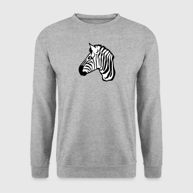 zebre animaux tete profil 2101 - Sweat-shirt Homme
