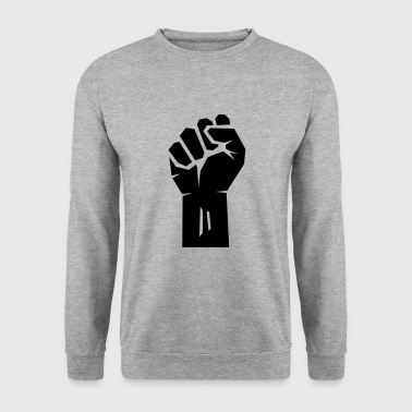 Black rised clenched fist. - Men's Sweatshirt