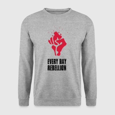 Rebellion fight Faust red blood every day revolutio - Men's Sweatshirt
