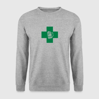 croix medicale verre biere pharmacie 1211 - Sweat-shirt Homme
