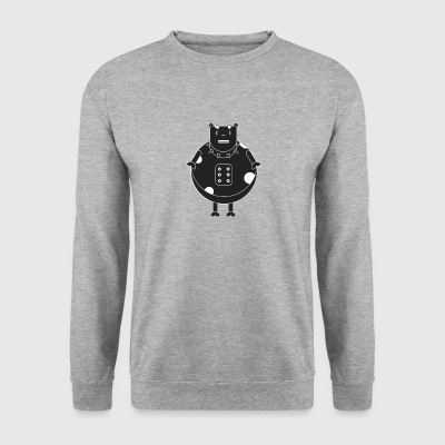 rock heavy metal de vache - Sweat-shirt Homme
