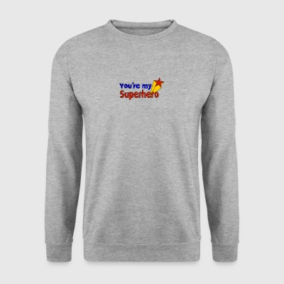you're my superhero - Männer Pullover