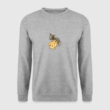 Fiese mouse rodent mouse vermin rodent cheese - Men's Sweatshirt