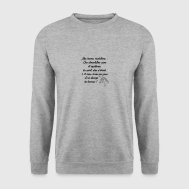 MES BONNES RESOLUTIONS - Sweat-shirt Homme