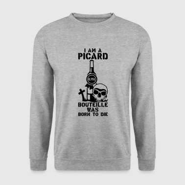 picard 0 75 litres bouteille born die - Sweat-shirt Homme
