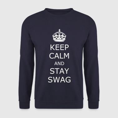 Keep calm and stay swag - Genser for menn