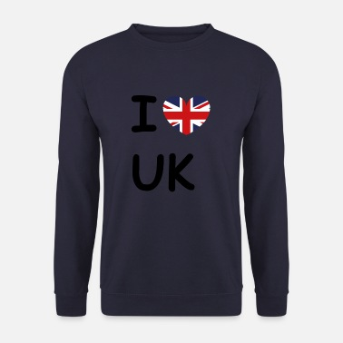 Uk Jeg elsker UK England UK - Herre sweater