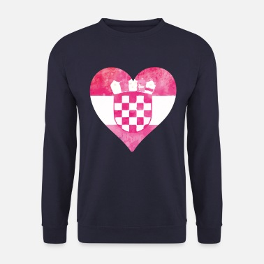 I Heart coeur de la croatie - Sweat-shirt Homme