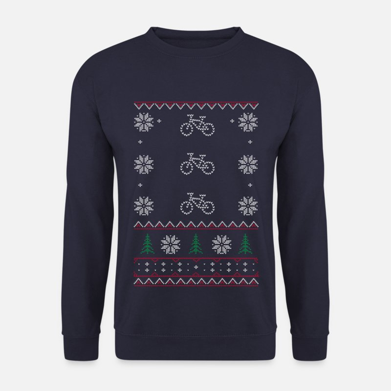 Christmas Pullover & Hoodies - Ugly Xmas Sweaters Cycle - Männer Pullover Navy