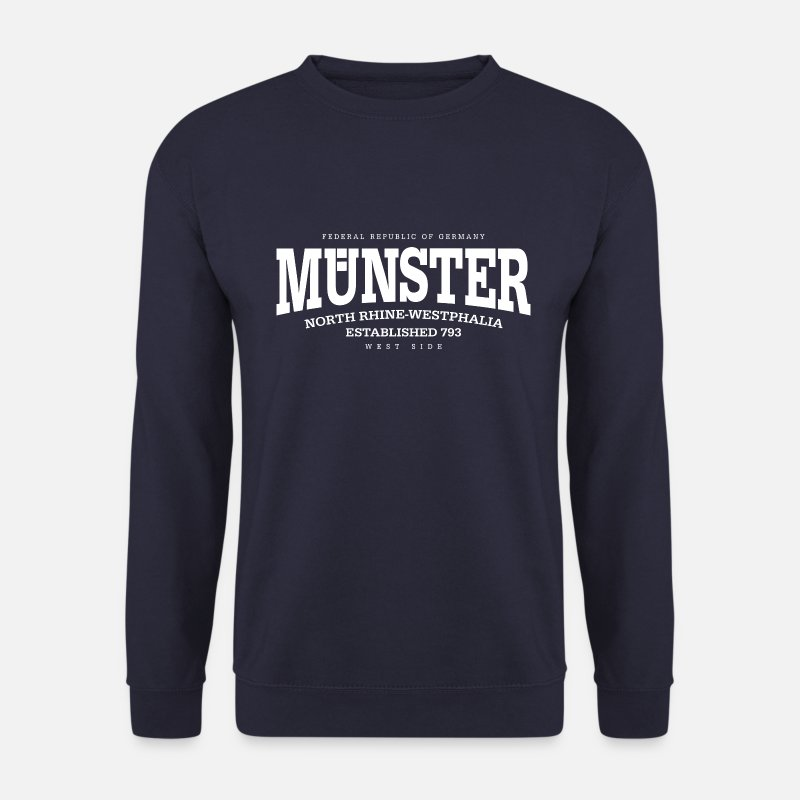 Germany Münster Pullover & Hoodies - Münster (white Edt. '13) - Männer Pullover Navy
