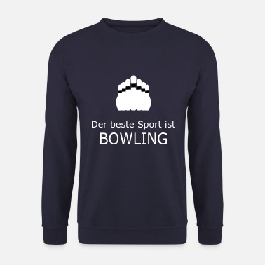 Treffer De beste sport is wit bowlen - Mannen sweater