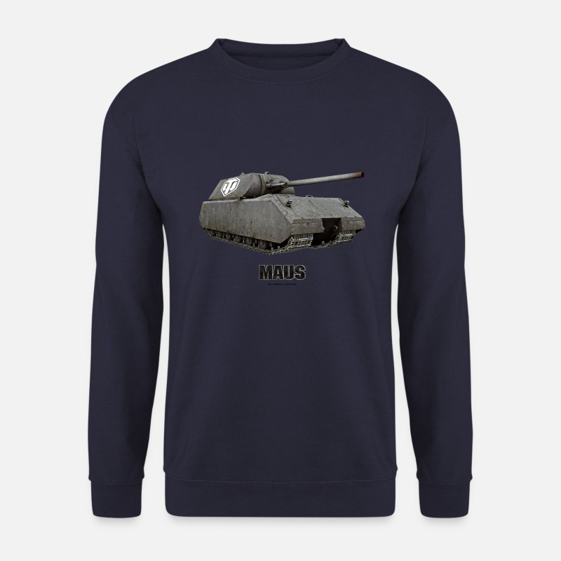 World Hoodies & Sweatshirts - World of Tanks - Maus - Men's Sweatshirt navy