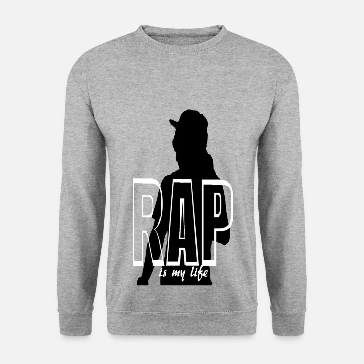 rap is my life Sudadera hombre  bd842a9a096