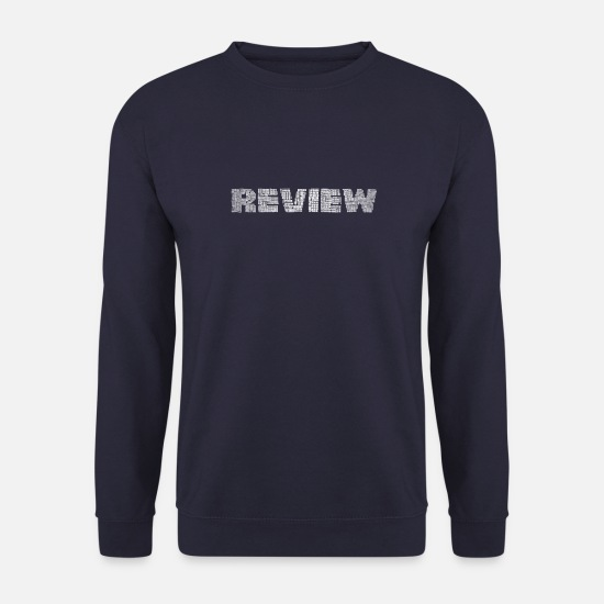 Évaluation Sweat-shirts - Review mot mélange - Sweat-shirt Homme marine