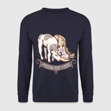 Friend not food - Männer Pullover