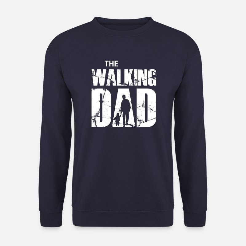 Far Sweatshirts - The Walking Dad (hvid) - Sweatshirt mænd marineblå