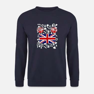 Grande-Bretagne Angleterre Queen Flag Union Jack - Sweat-shirt Homme