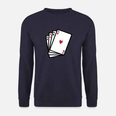 Jeu De Cartes carte jeux poker as carre 902 - Sweat-shirt Homme