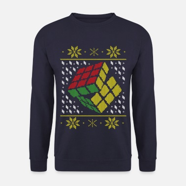 Rubik's Cube Ugly Christmas - Men's Sweatshirt