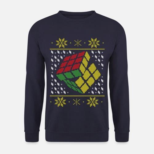 4d7f0889b40 Rubik s Cube Pull Moche De Noël Sweat-shirt Homme