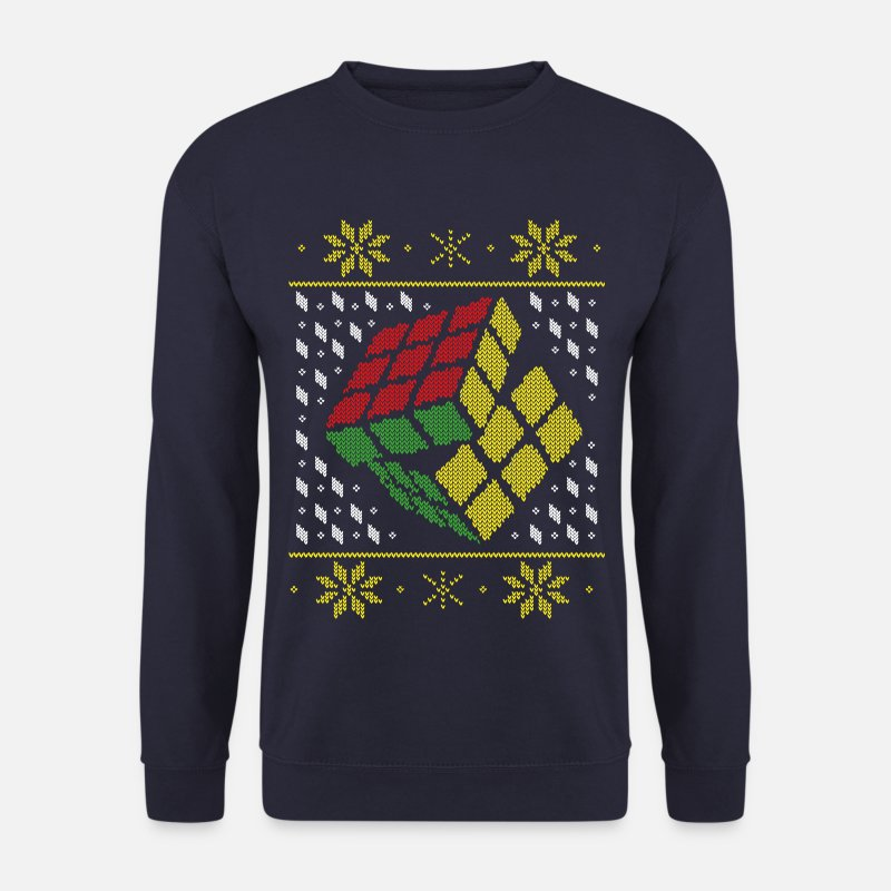 Christmas Pullover & Hoodies - Rubik's Cube Ugly Christmas - Männer Pullover Navy
