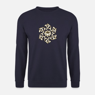 Méditation Om, Lotus bouddhisme, yoga, méditation, spirituel - Sweat-shirt Homme