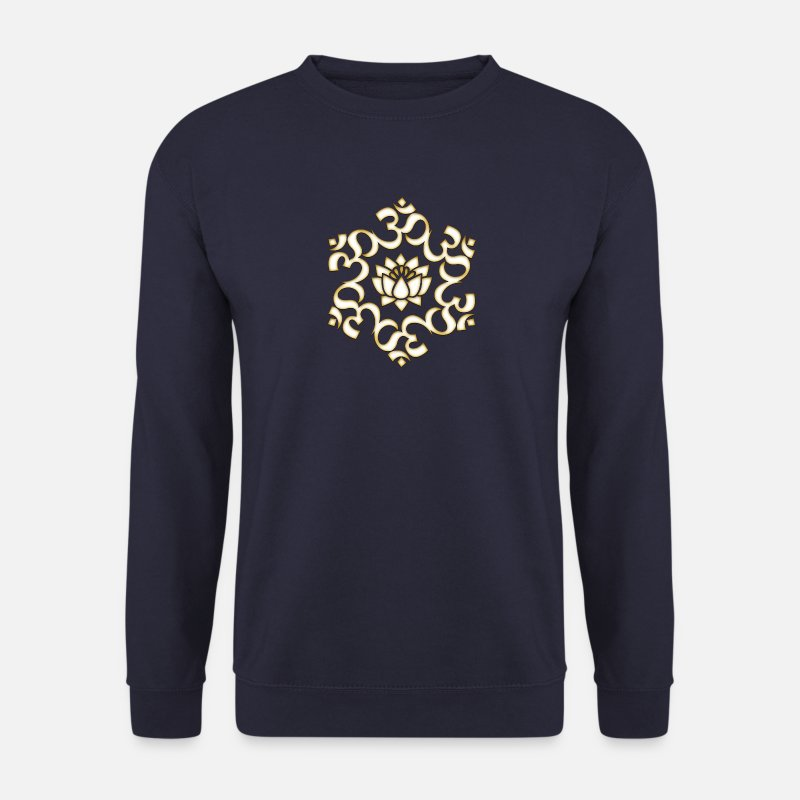 Om Sweat-shirts - Om, Lotus bouddhisme, yoga, méditation, spirituel - Sweat-shirt Homme marine