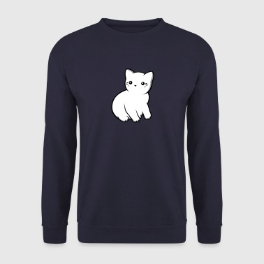 Kitten profile opaque - Men's Sweatshirt