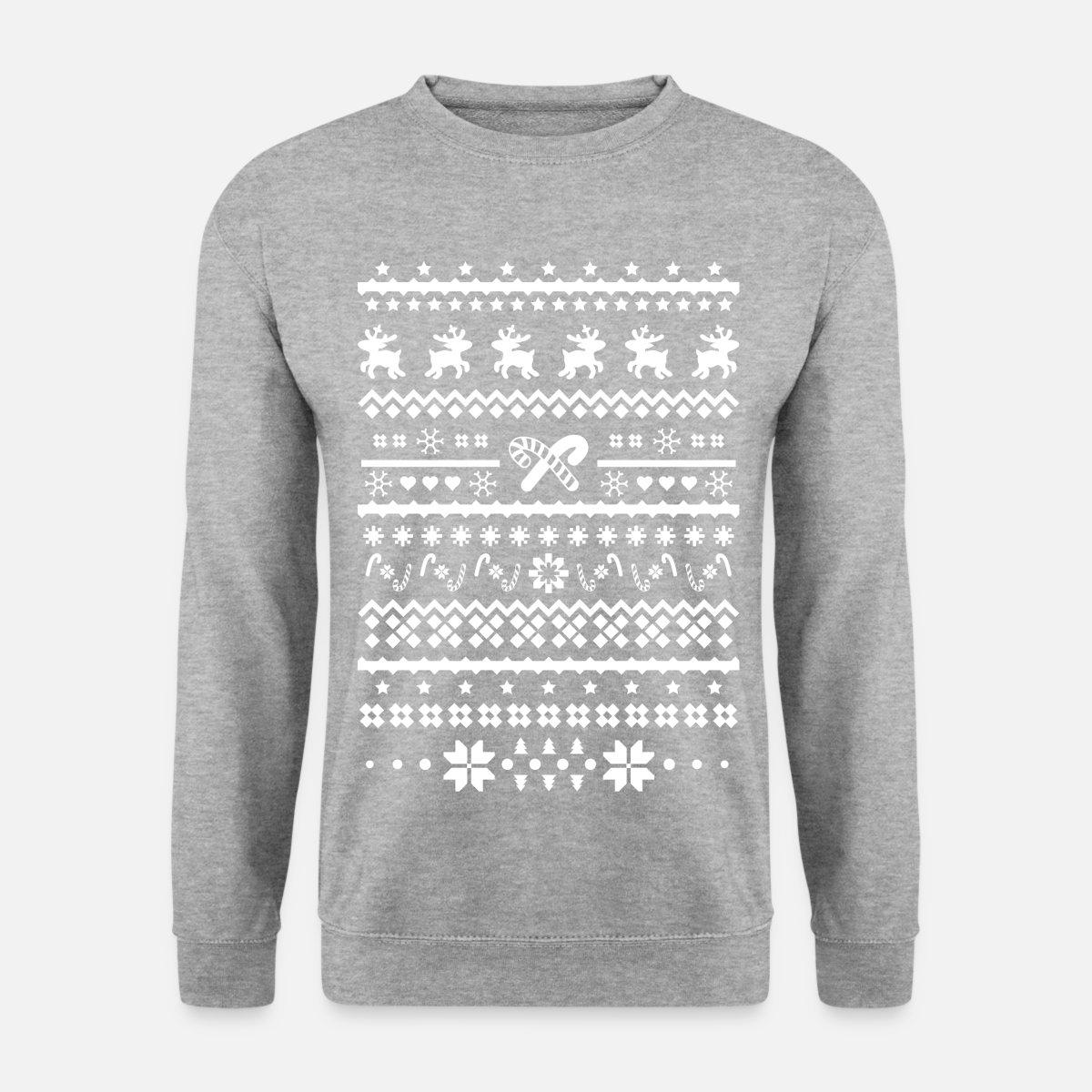 christmas sweater reindeer Men\'s Sweatshirt - salt & pepper