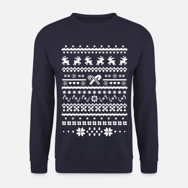 christmas sweater reindeer - Men's Sweatshirt