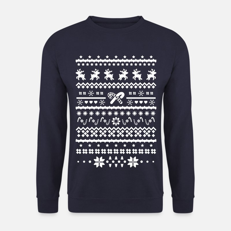 Christmas Hoodies & Sweatshirts - christmas sweater reindeer - Men's Sweatshirt navy